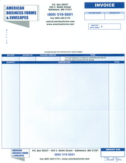 LASER INVOICES / STATEMENTS