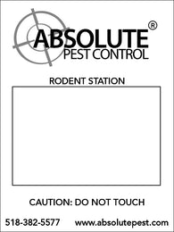 "Bait Station Placards - 3"" x 4"" (.15 inch Styrene)"