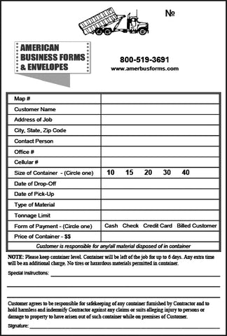 Dispatch Ticket 4 (Printed on Back)