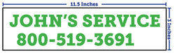 "Equipment Labels (1 Color) - 11.5"" x 3"""