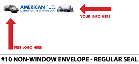 #10 Non-Window Fuel Envelope - Regular Seal