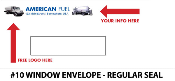 #10 Window Fuel Envelope - Regular Seal