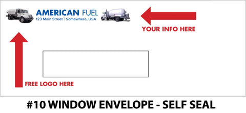 #10 Window Propane Envelope - Self Seal