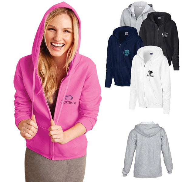 Ladies Gildan® Heavy Blend™ Full Zip Hooded Sweatshirt (As low as $27.19)
