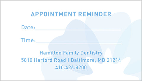 Dental Appointment Cards - Template #02