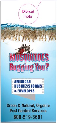 Pest Door Hanger - Full Color - Template # 2 - Mosquitoes