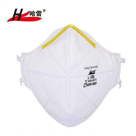 Harley N95 Face Mask- NIOSH Approved - 20 per box- As Low as $ 3.00 per Mask- FDA and CE Certified