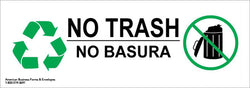 No Trash No Basura Sticker