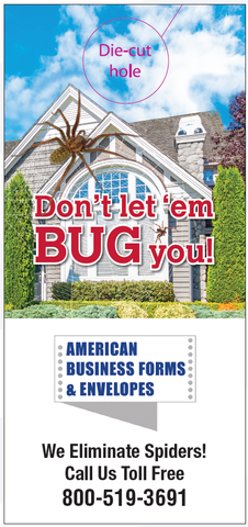 Pest Door Hanger - Full Color - Template #01 - Bugs