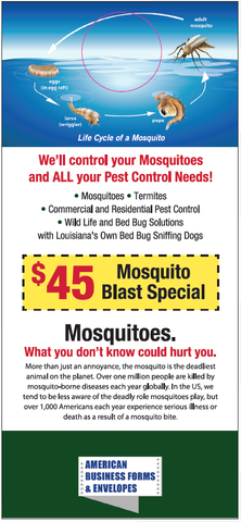 Pest Door Hanger - Full Color - Template #05  - Mosquitoes