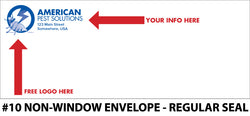 #10 Non-Window Pest Envelope - Regular Seal