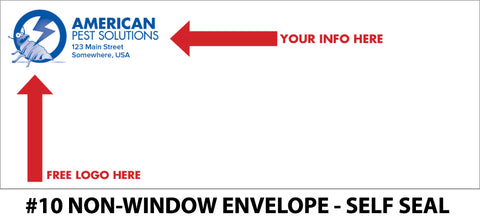 #10 Non-Window Pest Envelope - Self Seal