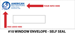#10 Window Pest Envelope - Self Seal