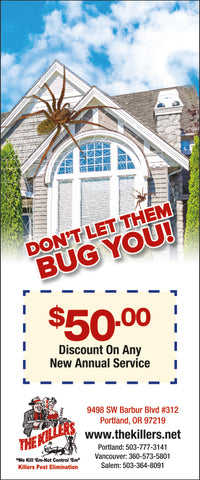Pest Door Hanger - Full Color - Template #16 - Bugs
