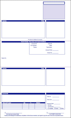 PestPac Laser Legal Service Slip / Invoice - SAME DAY SHIP