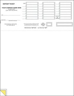 QuickBooks Laser Deposit Ticket