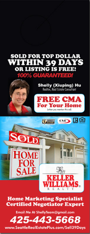 Real Estate Door Hangers - Template #009