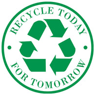 "8"" Round Stickers (Recycle Today For Tomorrow)"