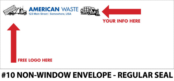 #10 Non-Window Refuse Envelope - Regular Seal