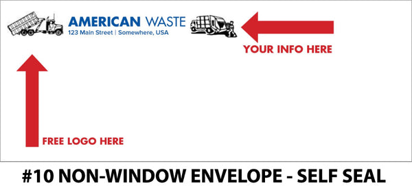 #10 Non-Window Refuse Envelope - Self Seal