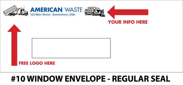 #10 Window Refuse Envelope - Regular Seal