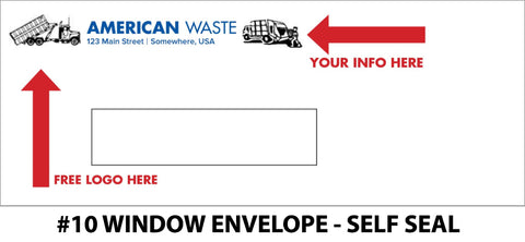 #10 Window Refuse Envelope - Self Seal