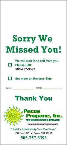 Pest Door Hanger - Full Color - Template #11 - Sorry We Missed You