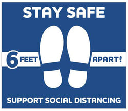 Stay Safe Floor Decals 593401