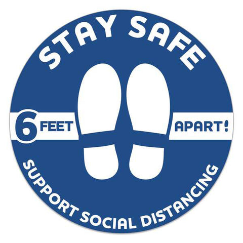Stay Safe Floor Decals 593601
