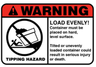 Tipping Hazard Decals