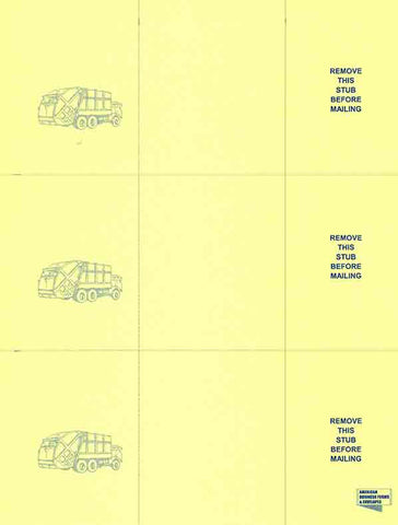 WAM Laser Postcard Statement (Stock) - Yellow