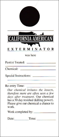 Pest Door Hanger - California - Template #02