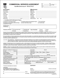 Pest Commercial Service Agreement - Long