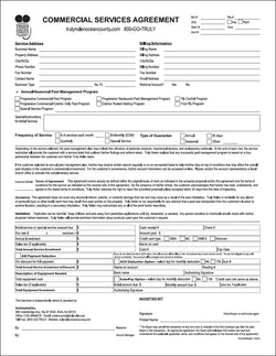 pest commercial service agreement long