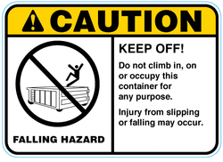 Falling Hazard Decals