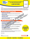 HVAC Tune Up Forms 8 1/2 x 11