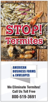 Pest Door Hanger - Full Color - Template # 4 - Termites