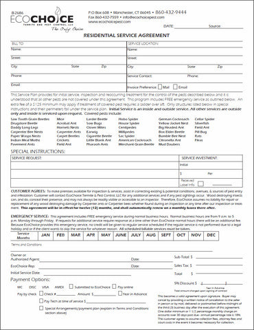 Pest Contract 6 Residential Agreement American Business Forms