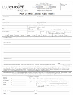 pest contract 8 service agreement