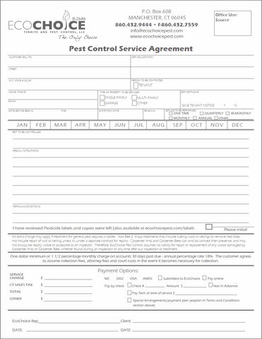 Pest Contract #8 - Service Agreement