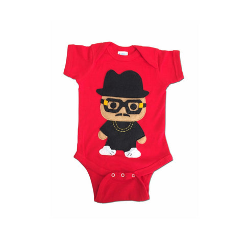 Rad Rapper - Tall Hat - Red Hip Hop Baby Onesie