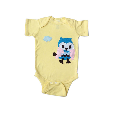 Baby Onesie - 3D Flying Owl