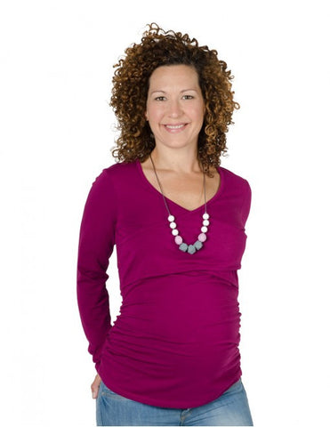 RACHEL NURSING & MATERNITY TOP - ORCHID