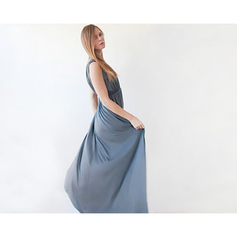 Grey sleeveless maxi dress