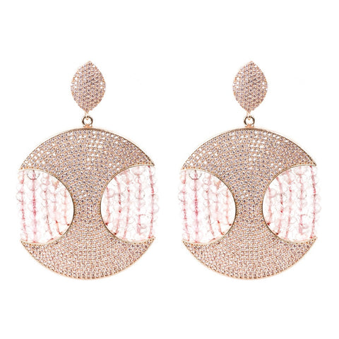 Copacabana Earring Rose Quartz