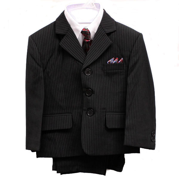 Baby Boys' Formal Suit - 5 Pieces - Pinstripe