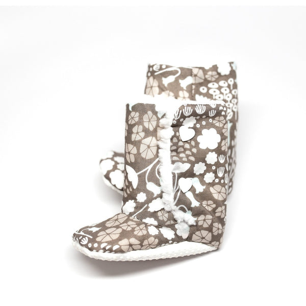 Flowers Baby Boots (Organic Cotton)