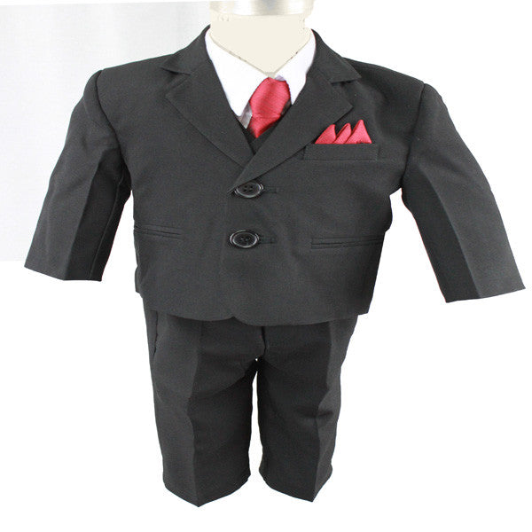 Baby Boys' Formal Black Suit - 5 Pieces