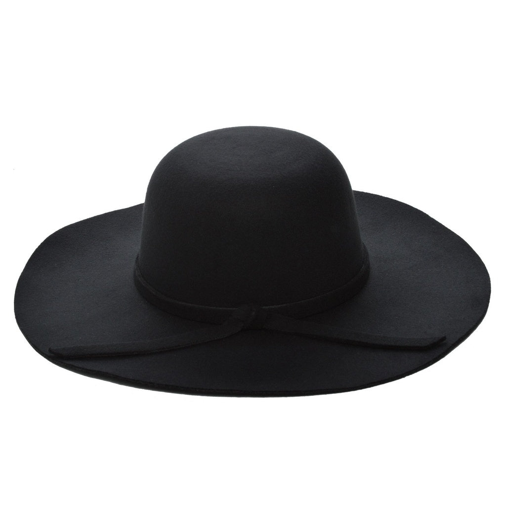 Eva Black Fedora Vegan Hat