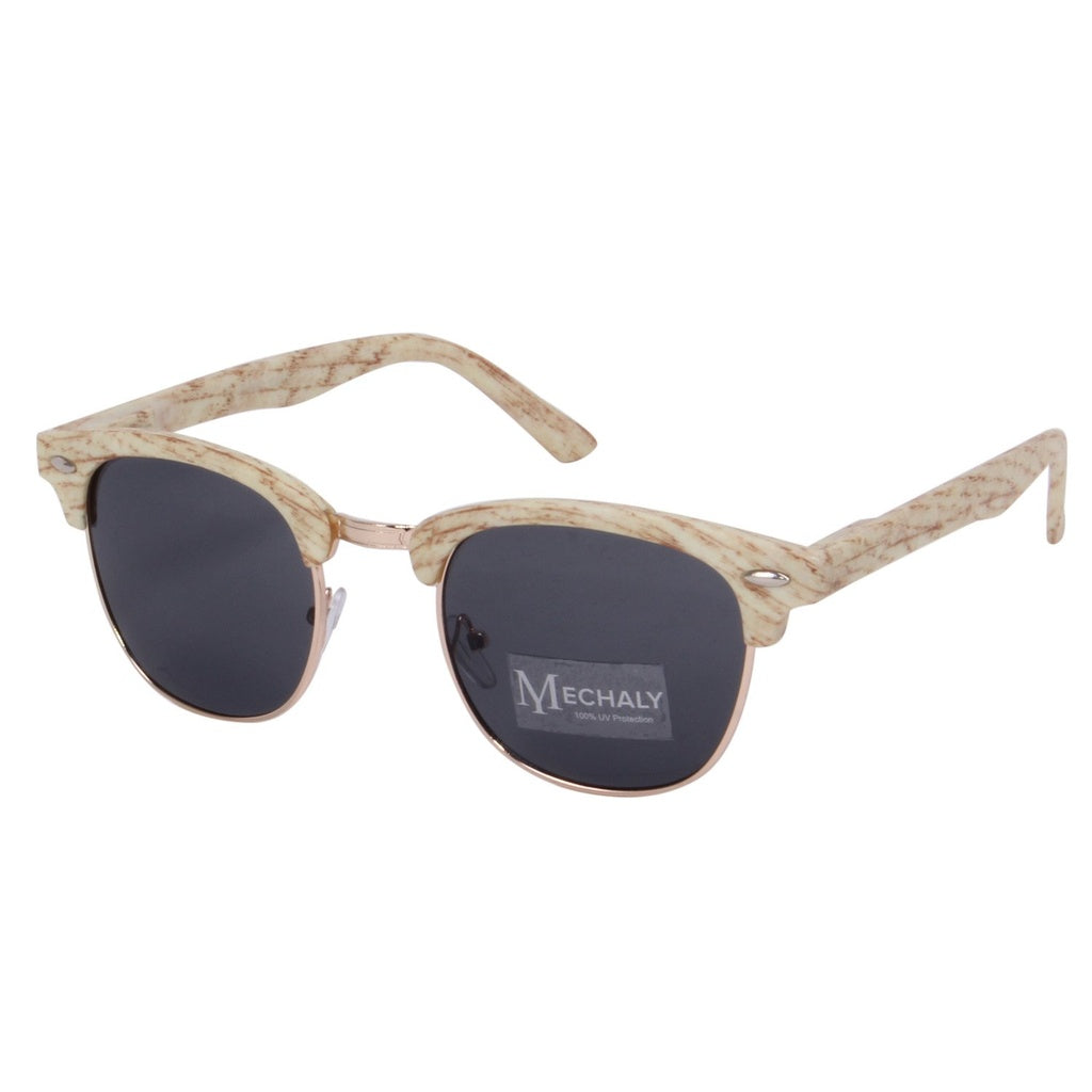 Clubmaster Style White Sunglasses